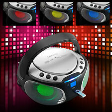 Musik Sound Party Anlage Bluetooth USB Farbwechsler MP3 HiFi Boombox mobil Lenco