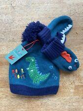 Little Explorer Dinosaur Roarsome Bobble Hat Gloves Mitten Set 4-7 years BNWT