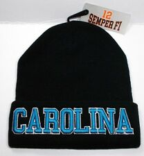 Carolina Panthers Team Color 3D Direct Embroidered Beanie Knit Cap hat!