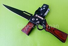 AK47 Type Tactical Folding Blade Knife Survival Outdoor Hunting Camping with LED
