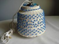 Vintage....Small...Lawnware....Blue....Hanging Camping Rv Lamp