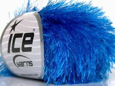 Blue Eyelash Yarn #50647 Ice True Blue Fun Fur 50 Gram