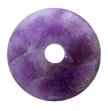 AMETISTA CIAMBELLA ciondolo pietra preziosa 30 mm DISCO PI Cristalloterapia