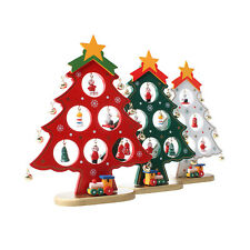 Wood Christmas Tree Desktop Table DIY Mini Home Window Decoration Ornaments Gift