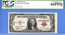 1935 A  $1 Hawaii Silver Certificate, PCGS 64PPQ, perfect paper quality (# 2088)