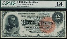 Fr. 242 1886 $2 Silver Certificate Pmg 64