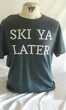 SKI T Shirt waterskiing snow skiing mens large OUTDOORS downhill New gray