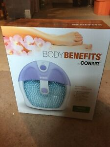 Conair Body Benefits with Foot Vibrations Foot Bath - New