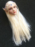 1/6 Elf Queen Emma Head Sculpt Beauty Girl Head Carving Fit 12'' PH Pale Figure