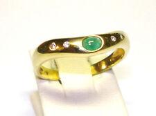 Echt Smaragd  Brillant Ring Gold 585 14kt (LP990€) NEU Smaragdring Diamant