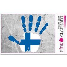 Finlande - main paume Doigt Imprimer étiquette Drapeau DESSIN SUOMI