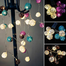 10/20 LED Flamingo Pineapple Ball String Lights Fairy Battery Lamps Xmas Party