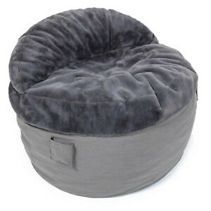 Corduroy's KING NEST BEANBAG Chair w. CONVERTIBLE MATTRESS & FOOTSTOOL included!