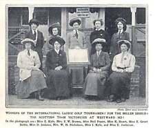 1910 Scottish Team Win Miller Shield Golf, Westward Ho