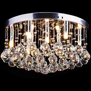 Lustre en cristal Luminaire Plafonnier Moderne Design (Boules de verre)