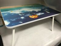 Wooden Bed Tray With Folding Leg Serving Breakfast Lap Tray Table Mate UK