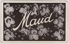 Vintage Postcard - Photos of Maud in Clover Leaf