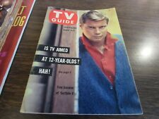 VINTAGE - TV GUIDE AUG 19 1961 - TROY DONAHUE - SURFSIDE 6 - COVER