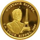 L7082 FRANCE Gustave Eiffel Tour Eiffel 1889 Vive la France Or Gold BE PP PF Pr