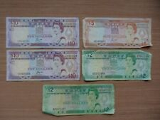 LOT DE 5 BILLETS DE BANQUE FIJI 2/5/10 DOLLARDS