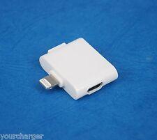 Micro+Mini+30-pin to 8-pin USB Cable Adapter Dock WHITE for iPad Air 2 4 mini 3