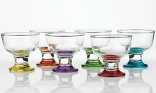 6x Destina coral dessert coloured ice cream sundae dishes glasses 285Ml 9.5oz