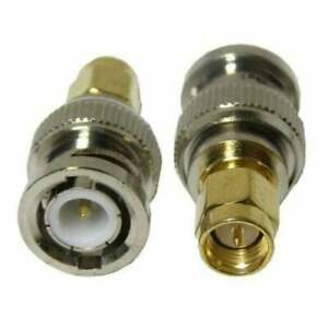 1x SMA Male To BNC Male Convertor Adaptor Gold Plated UK Seller