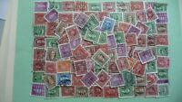 10492 - lot 100 timbres seconds hommes