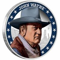 2020 John Wayne $1 Tuvalu 1 oz Silver Proof Coin