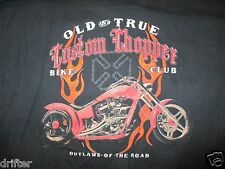 Old and True Custom Choppers Motorcycles Outlaws of Road T Shirt Size L