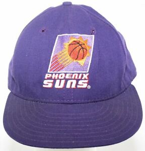 Vintage 1990s PHOENIX SUNS New Era 5950 Cap Wool Purple Hat - Fitted Size 7 5/8