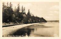 RPPC WA Postcard Beach Point Defiance Park Tacoma Water Boardwalk Ellis F442