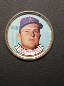 1964 TOPPS BASEBALL COIN #34 DON DRYSDALE - LOS ANGELES DODGERS HOF