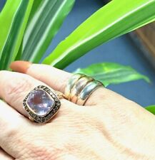 LeVian 14K Rose Gold Amethyst & Chocolate Diamond Ring / 7.5