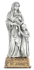 4.5 Inch Pewter Statue St Anne