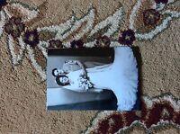 M17b8 6x4 Inches reprint Photograph ww2  Wedding Couple Bride a002 flowers smile
