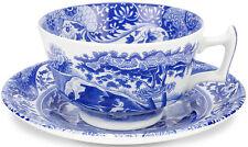SPODE BLUE ITALIAN 4 TEA CUPS AND SAUCERS - NEW/UNUSED