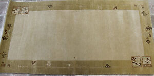 RST3485 GORGEOUS HAND CRAFTED WOOLEN TIBETAN RUG 2.4' X 4.6' MADE IN NEPAL