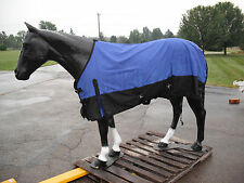 """Horse Turnout  Sheet / Waterproof /   Ripstop / Blue  and Black 69"""""""