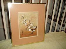 Superb Chinese Or Japanese Artwork-Dogwood Tree-Framed-Stamped & Marked