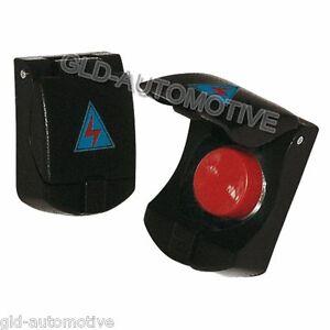 Interruttore aeronautico Button con Sportellino Simoni Racing Sport Tuning Auto