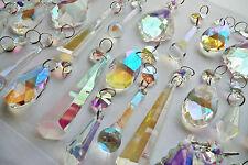 25 Aurora Borealis Ab Lustre gouttelettes de cristaux de verre Jardin Goutte Décorations