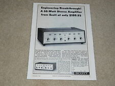 Scott Tube 233 Tube Amplifier Ad, 1 page, Specs, Info, Article, 1964