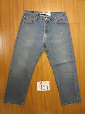 Levi blue destroyed jean used 559 relaxed straight tag 36x30 zip4954