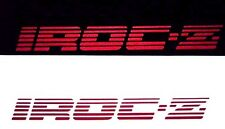 IROC DOOR DECALS -  SET OF 2  - 1985-1990, RED iroc-z, z-28, camaro, stickers