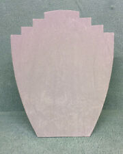 Set of 10 Jewellery Display Card Busts [B] Grey Suedette