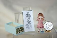 Miniature Dollhouse Maria Victoria Heredia Guerbos Childs Doll w Jumeau Box