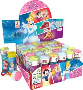 Disney Princess Bubble Blowing Tubs Childrens Party Bag Filler Toys