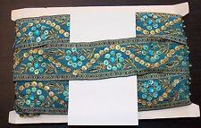 Joya Turquesa Lentejuelas indio Pastel De Bodas Diamantes de Imitación de Malla de cinta traje de la danza