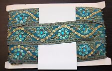 turquoise Jewel Sequin Indian wedding  cake dance costume ribbon mesh rhinestone